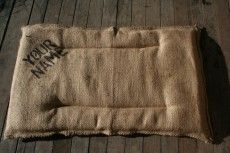 Hessian Pet bed