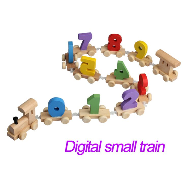 Mini Digital Number Wooden Train Figures Railway Toy Baby Educational Toys Children Gifts Free shipping