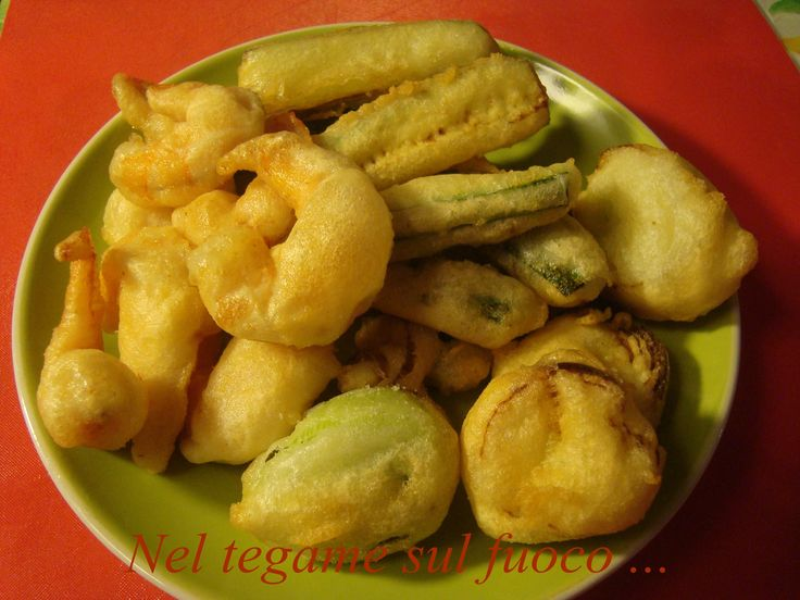 Zucchine, porri e gamberi in pastella - Ricetta veloce-