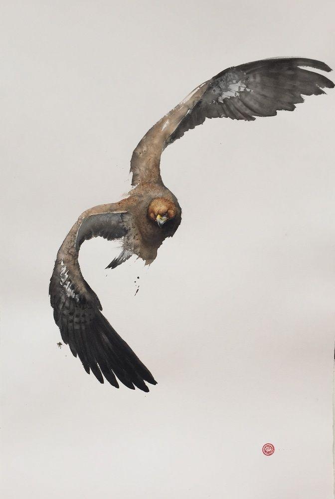 Karl Martens, Golden Eagle (Framed)   Cricket Fine Art