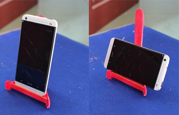 Cómo hacer un soporte para el teléfono | palito de paleta