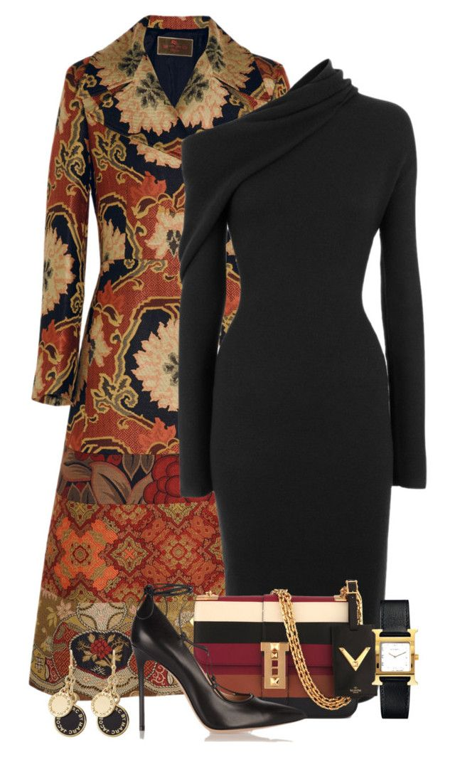 """""""Long Coat"""" by terry-tlc ❤ liked on Polyvore featuring Etro, Haider Ackermann, Valentino, Marc by Marc Jacobs and Hermès"""