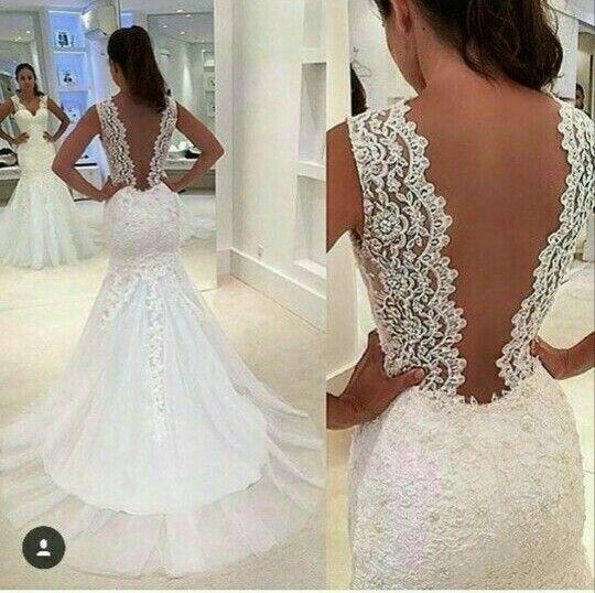 Diseño tipo sirena, vestido de novia