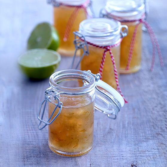 Lime- og ingefærmarmelade