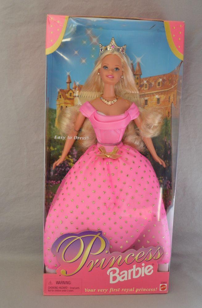 1998 Mattel Princess Barbie Your Very First Royal Princess Easy to Dress NIB #MattelBarbie #Dolls
