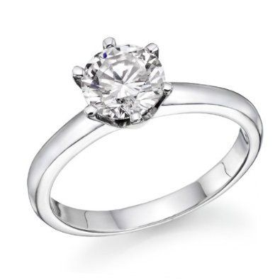 0.50 ct Certified GIA Round Diamond Solitaire Engagement Ring in 14k White Gold (J Color, VS2 Clarity)