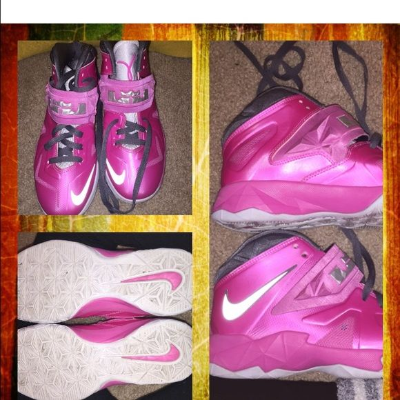 Unisex Breast Cancer Lebron James' Soldier VII's  Unisex breast cancer Lebron James's Soldier VII's worn a couple of timesthey don't fit my daughter anymore; seeking a good homepricing negotiable. Nike Shoes Sneakers