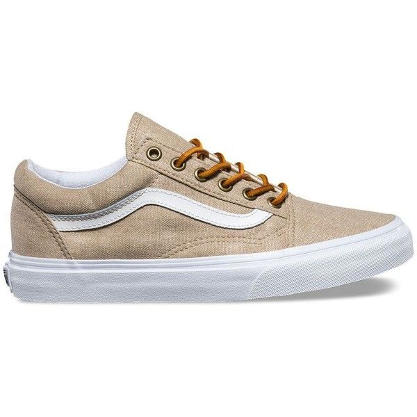 ac8997da6f Vans Washed Canvas Old Skool ( 65) ❤ liked on Polyvore featuring shoes