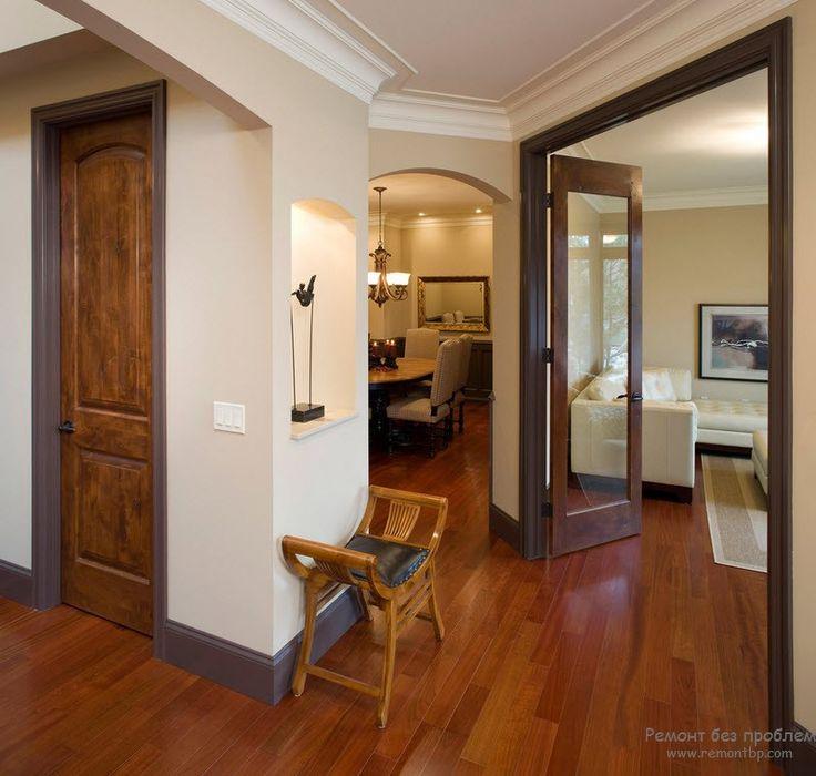 Эффект темных дверей в светлом интерьере | Современные идеи дизайна квартиры