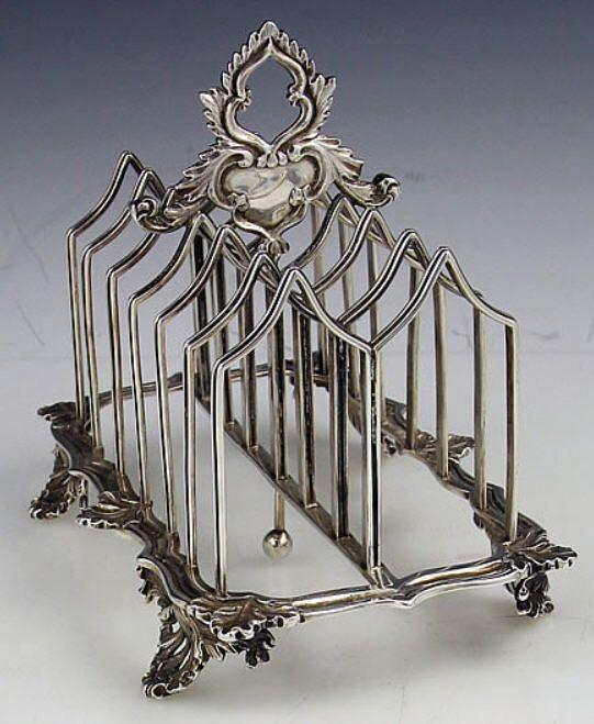 English Silver Antique Toast Rack Circa 1836