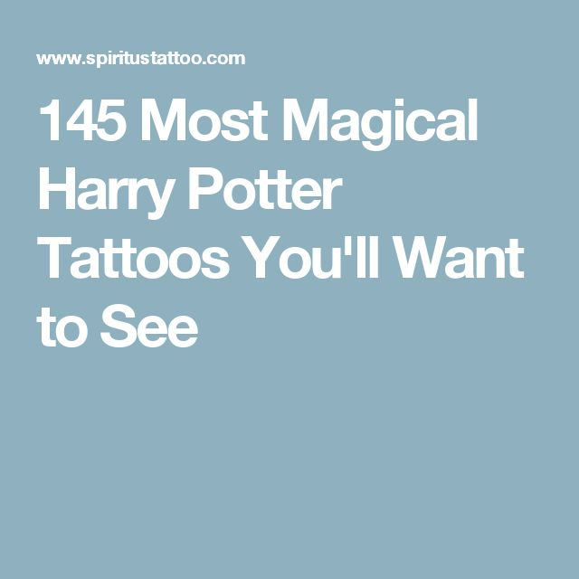 145 Most Magical Harry Potter Tattoos You'll Want to See