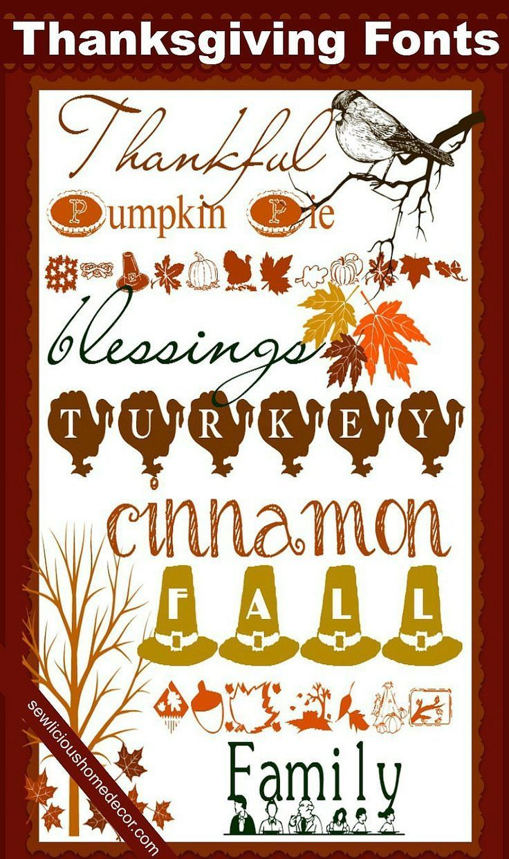 Free Best Thanksgiving Fonts by http://sewlicioushomedecor.com