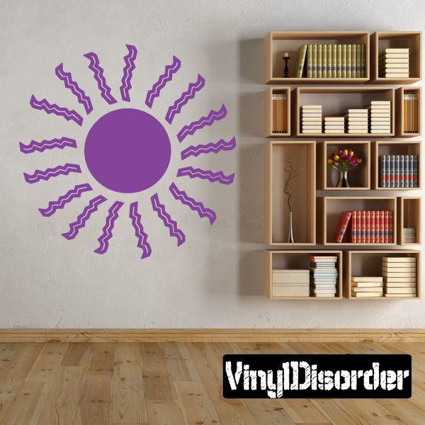 Sun Southwestern Wall Decal - Vinyl Decal - Car Decal - 052