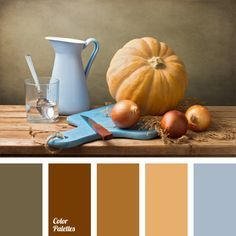 autumn colours, colour of copper, colour of ocher, colour of onion peel, colour of pumpkin, colour palette of autumn, Orange Color Palettes, pale cornflower blue