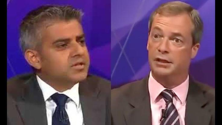 Watch as Nigel Farage OBLITERATE Sadiq Khan during HEATED DEBATE
