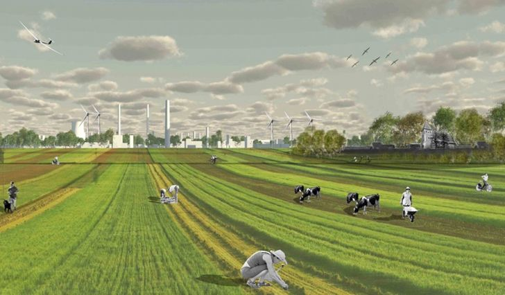 Nowa Huta is a sustainable city of the future near Krakow, Poland proposed by landscape planning firm Basic City A+U.