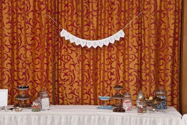 Candy Buffet, wedding cake to be added in the middle
