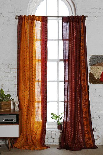 Magical Thinking Silk Sari Curtain - Urban Outfitters---something behind to prevent fading