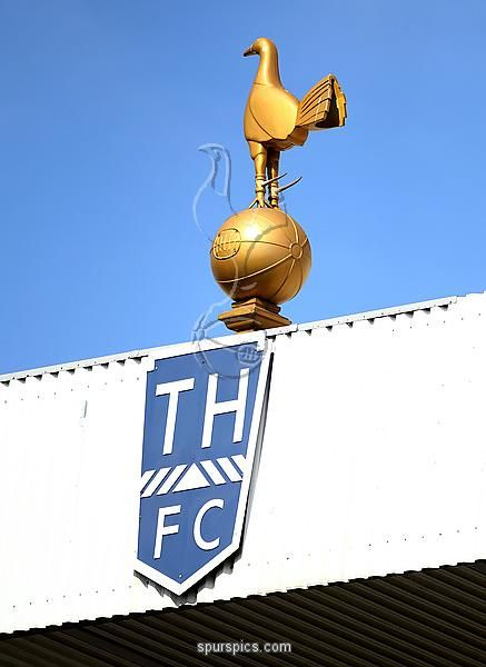 LONDON, ENGLAND - MAY 22: A general view of the Tottenham Hotspur crest during the Barclays Premier League match between Tottenham Hotspur and Birmingham City at White Hart Lane on May 22, 2011 in London, England