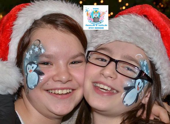 Pinguine Carmensita faces Kinderschminken Weihnachten Pinterest