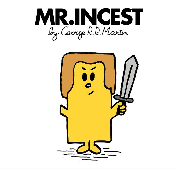 Game of Thrones as a Mr Men book.