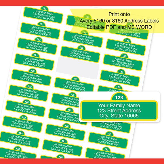 Instant Download -  Sesame Street Address Labels  / Return Address Labels & Recipient Address Labels  / Editable PDF and MS Word