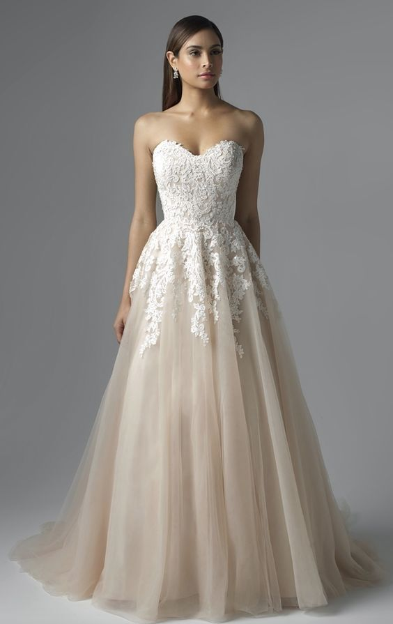 Featured Dress: Mia Solano; Wedding dress idea.