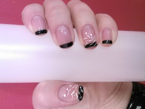 natural nail color with black tips for the fall: Easy Nail Art, Natural Nails, Nail Art Designs, Colors, Beauty, Easy Nails
