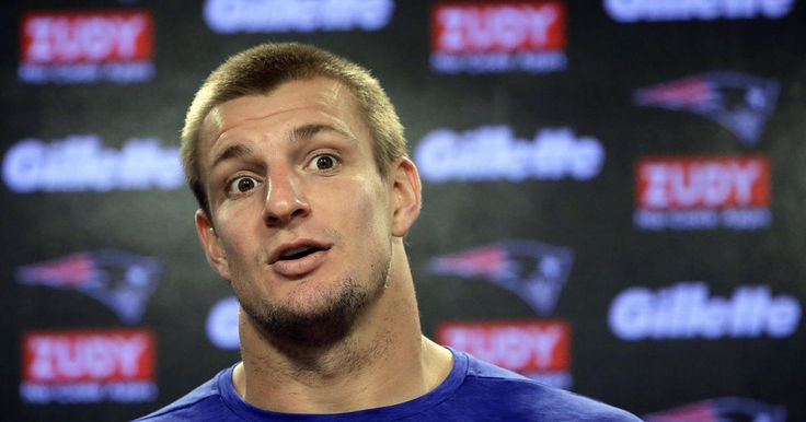 Patriots tight end Rob Gronkowski addresses the media during his press conference at Gillette Stadium on Wednesday, November 1, 2017.