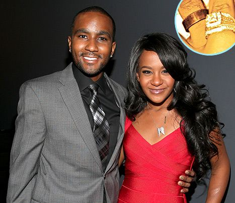"""Secret wedding? Bobbi Kristina Brown announced on Twitter Thursday, Jan 9, 2014, that she and Nick Gordon are """"happily married."""" The 20-year-old daughter of the late Whitney Houston shared the news by posting a photo of the couple's wedding rings."""