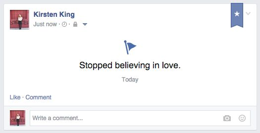 When you give up on the whole thing: | If Single People Honestly Updated Their Facebook
