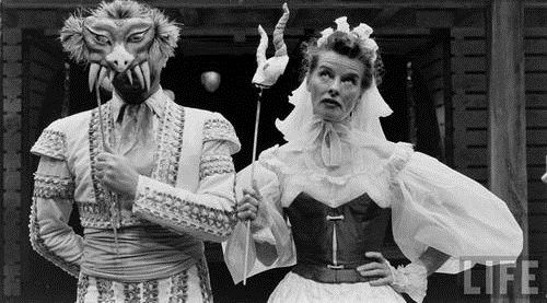 """Katharine Hepburn as Beatrice in """"Much Ado About Nothing"""" (1957)"""