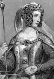 Philippa of Hainault (1314 - 1369). Wife of Edward III. Queen from 1328 - 1369. Mother of Edward The Black Prince, and John of Gaunt. Her marriage was supposedly very happy.