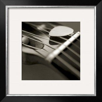 Guitar Strings and Pick Photographic Print by Winfred Evers at Art.com