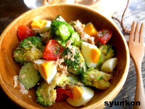 【簡単!作り置きサラダ】ブロッコリーとゆで卵の和風ツナマヨサラダ  山本ゆりオフィシャルブログ「含み笑いのカフェごはん『syunkon』」Powered by Ameba