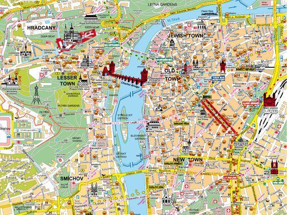Praha... I had this exact map :):