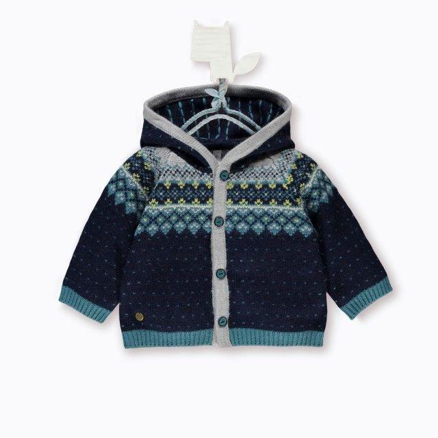 Hooded Cardigan / Cardigan à capuchon Bleu à motifs Souris Mini