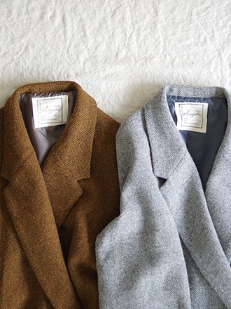 Antiquités England wool twill chester coat
