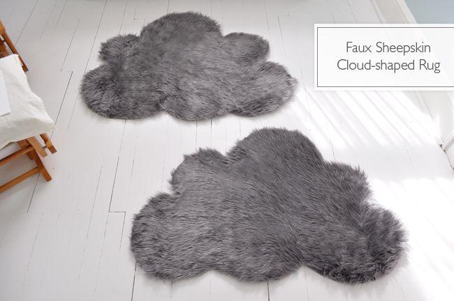 DIY cloud rugs.: Diy Cloud, Kids Bathroom, Sheepskin Rugs, Faux Sheepskin, Sheepskin Cloud, Cloud Rugs, Diy Rugs, Rugs Diy, Kids Rooms