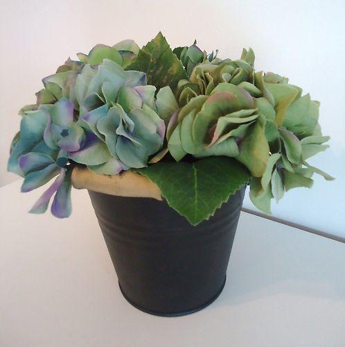 grand pot anse zinc noir hortensia bleut 25x25cm realisme. Black Bedroom Furniture Sets. Home Design Ideas