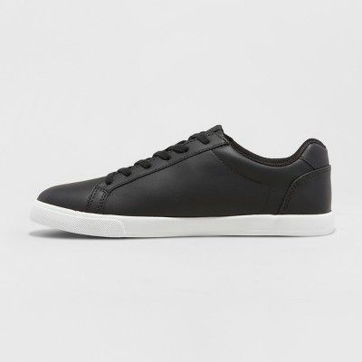 Men's Jared Lo Pro Tennis Shoe - Goodfellow & Co Black 10.5