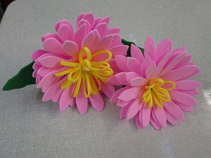 Flor Dália de EVA