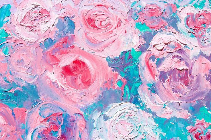Abstract roses painting  #flowerpaintings #flowerart