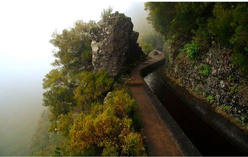 600 year water channel, Madeira