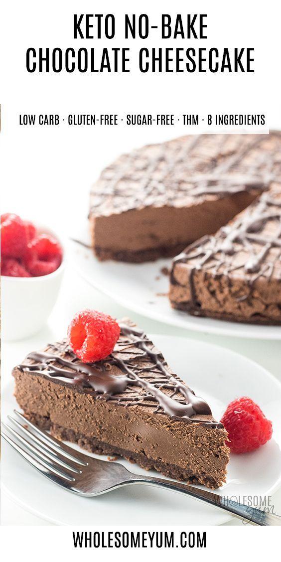 Keto Low Carb No Bake Chocolate Cheesecake Recipe …