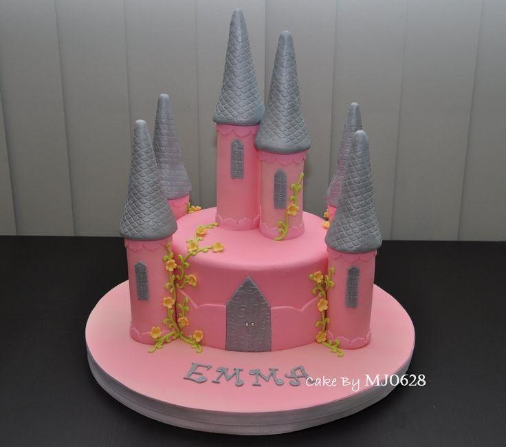 simple castle birthday cake   Princess Castle Cake — Children's Birthday Cakes