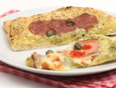 Pizza without yeast lacto free and low in histamine