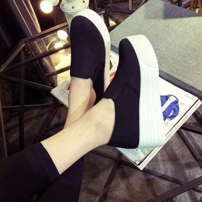 fashion women platform shoes woman flats loafers muffin thick soled sneakers canvas espadrilles creepers - Stylish n Trendier - 1