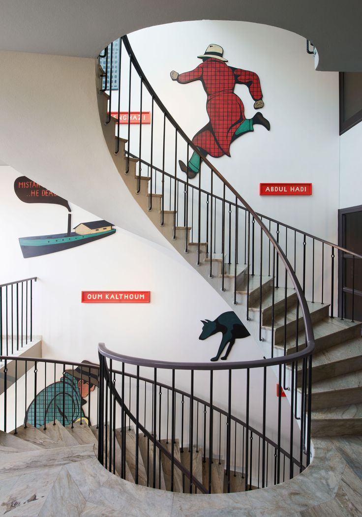 Oscar Properties :Ateljéhuset #oscarproperties  staircases, design, architecture, interior, paintings, decorations, hallway