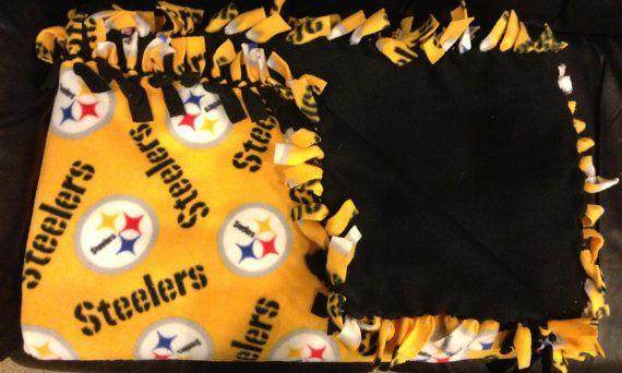 No Sew Licensed Print Steelers Blanket
